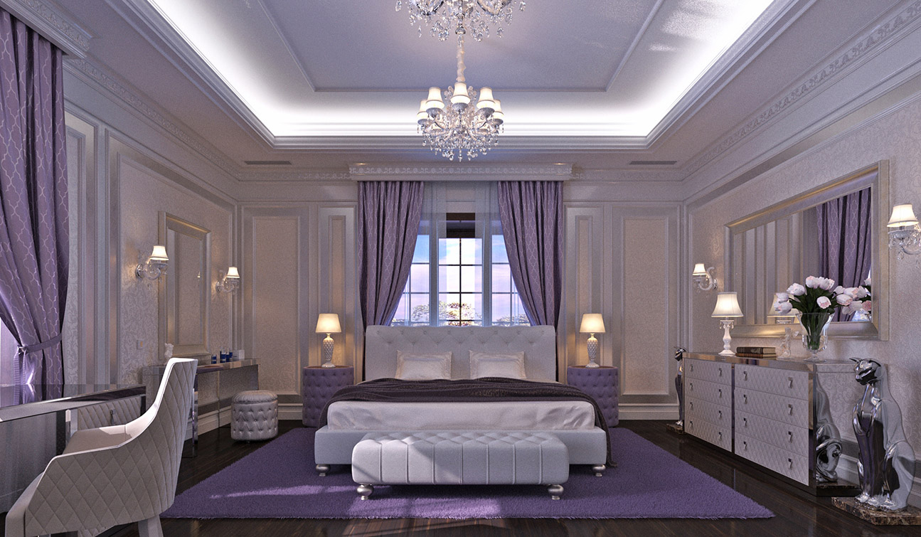 Bedroom Interior Design in Elegant Neoclassical Style 01