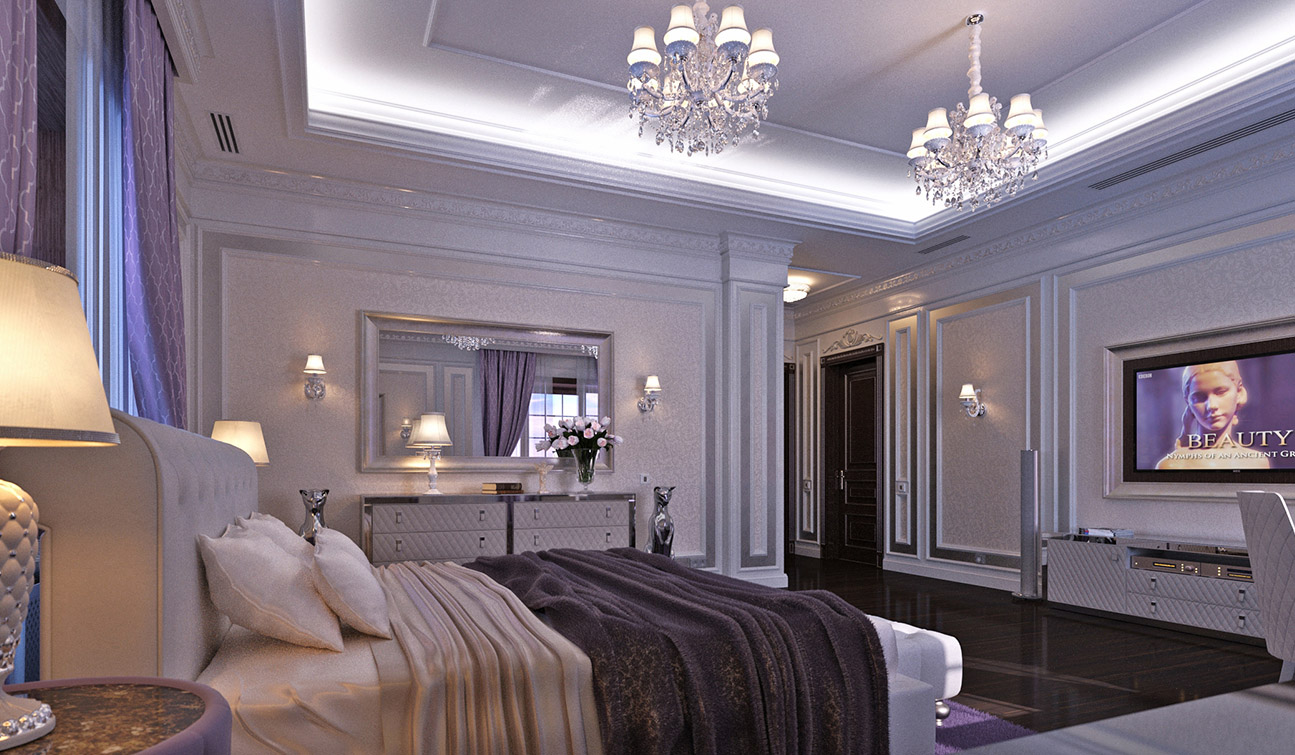 Bedroom Interior Design in Elegant Neoclassical Style 02