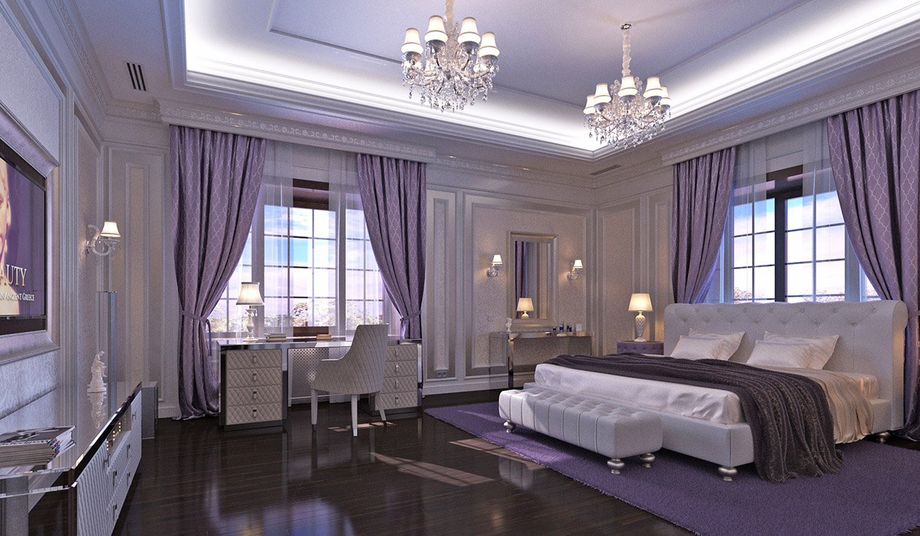 Bedroom Interior Design in Elegant Neoclassical Style 04