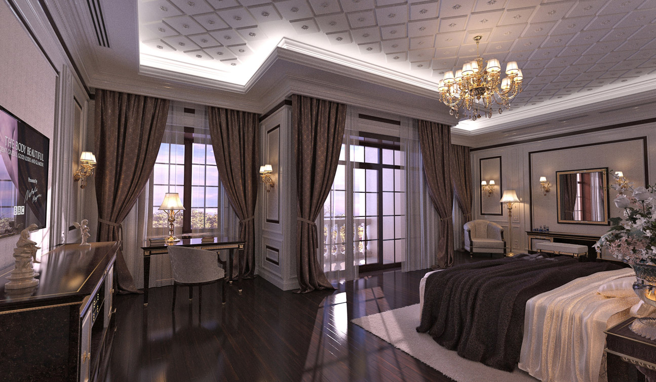 indesignclub classic bedroom interior design in traditional style. Black Bedroom Furniture Sets. Home Design Ideas