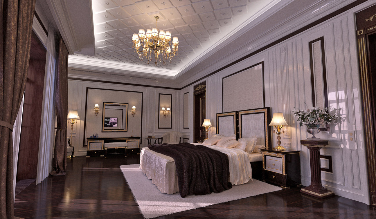 Indesignclub Classic Bedroom Interior Design In