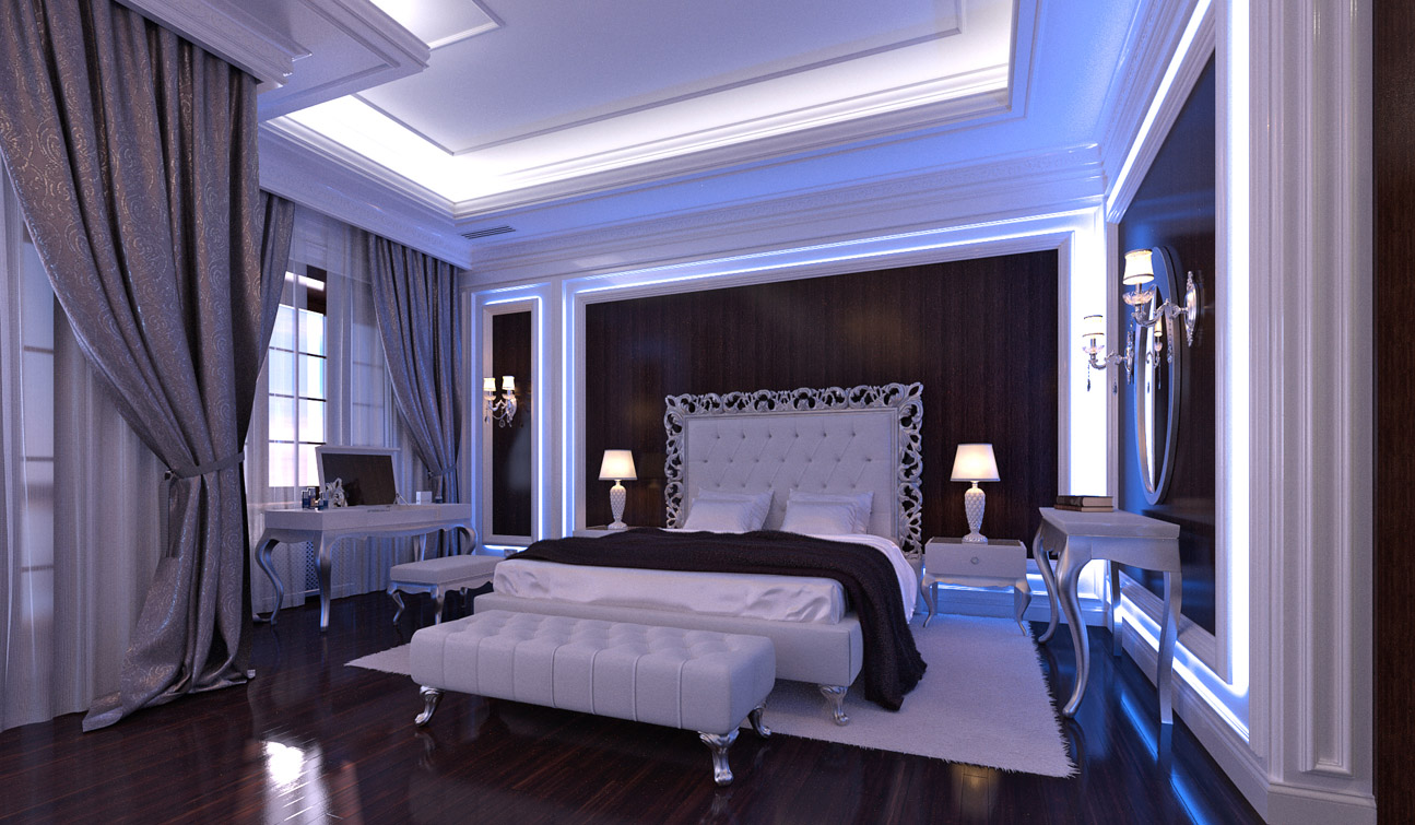 Glamour Bedroom Interior In Luxury Neoclassical Style