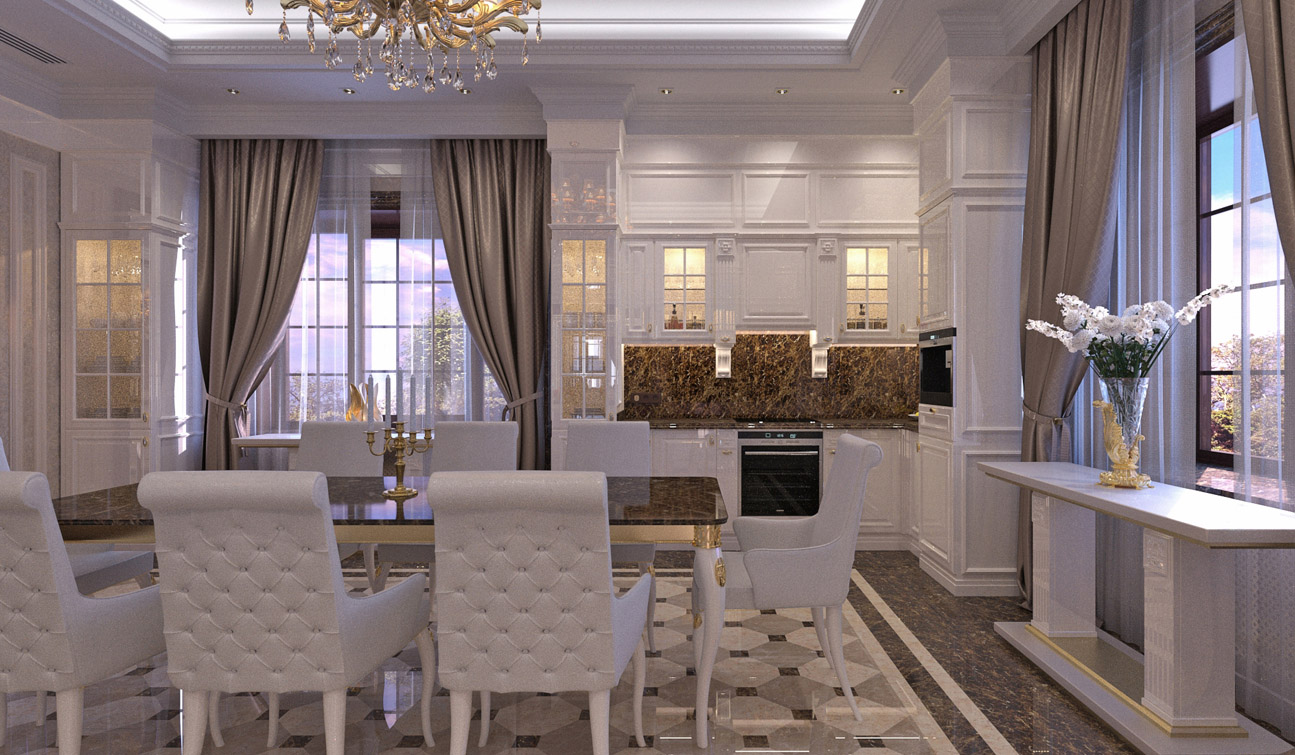 The Glossy White Furniture Elements Together With Dark Brown Light Beige And Cappuccino Marble Colors Create An Atmosphere Which Is