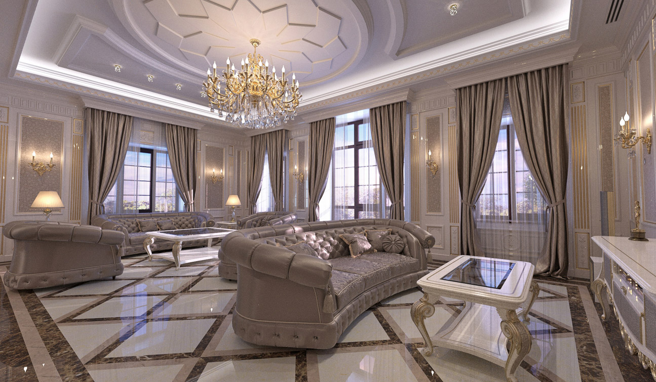 Indesignclub Living Room Interior Design In Elegant