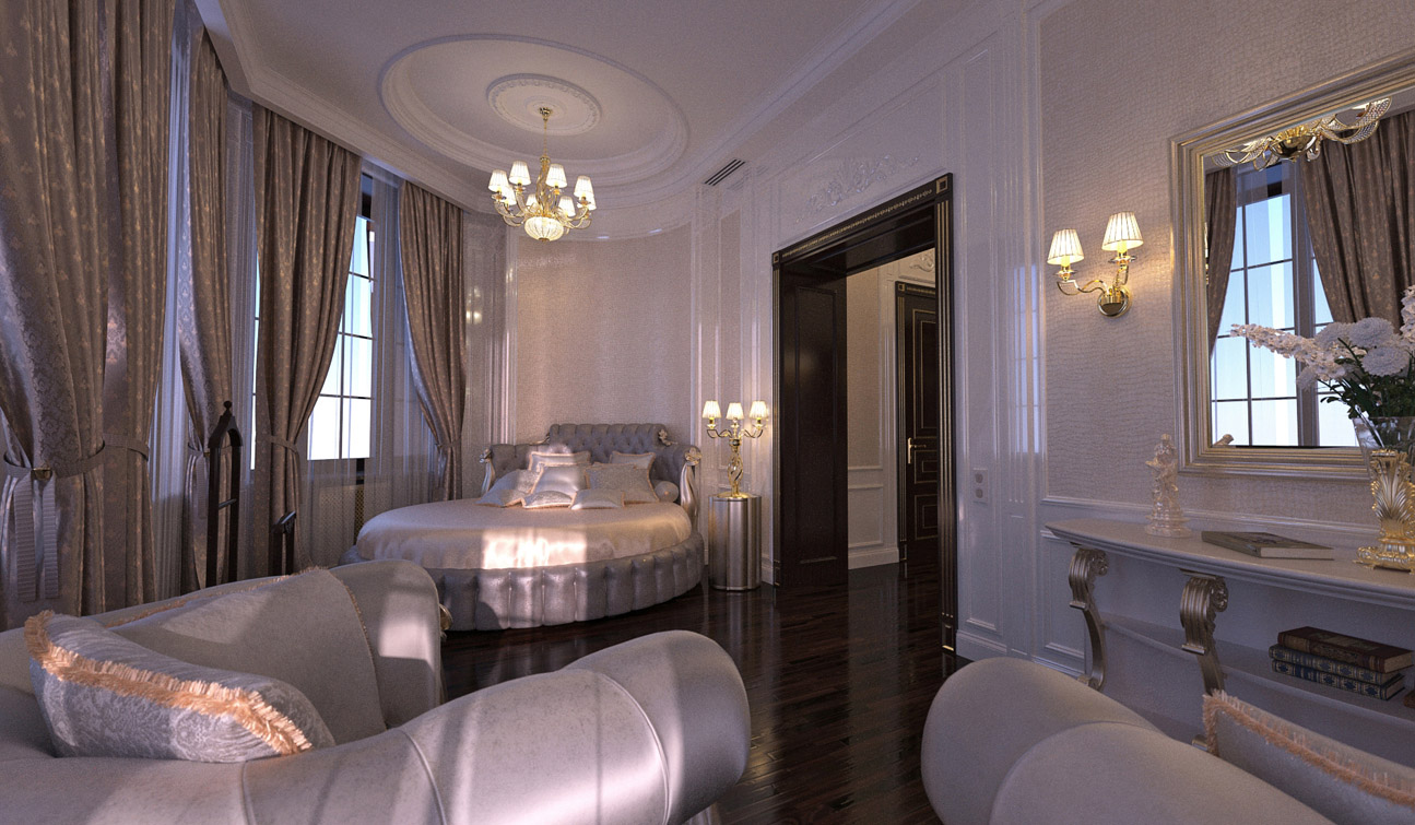 Luxury and Glamour Bedroom Interior Design in Art Deco style 01