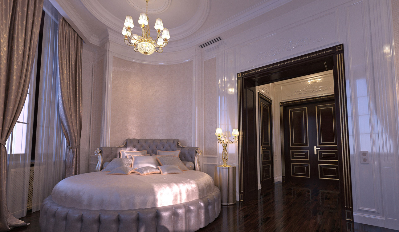 Luxury and Glamour Bedroom Interior Design in Art Deco style 03