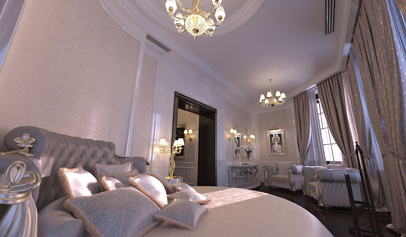 Luxury and Glamour Bedroom Interior Design in Art Deco style 05