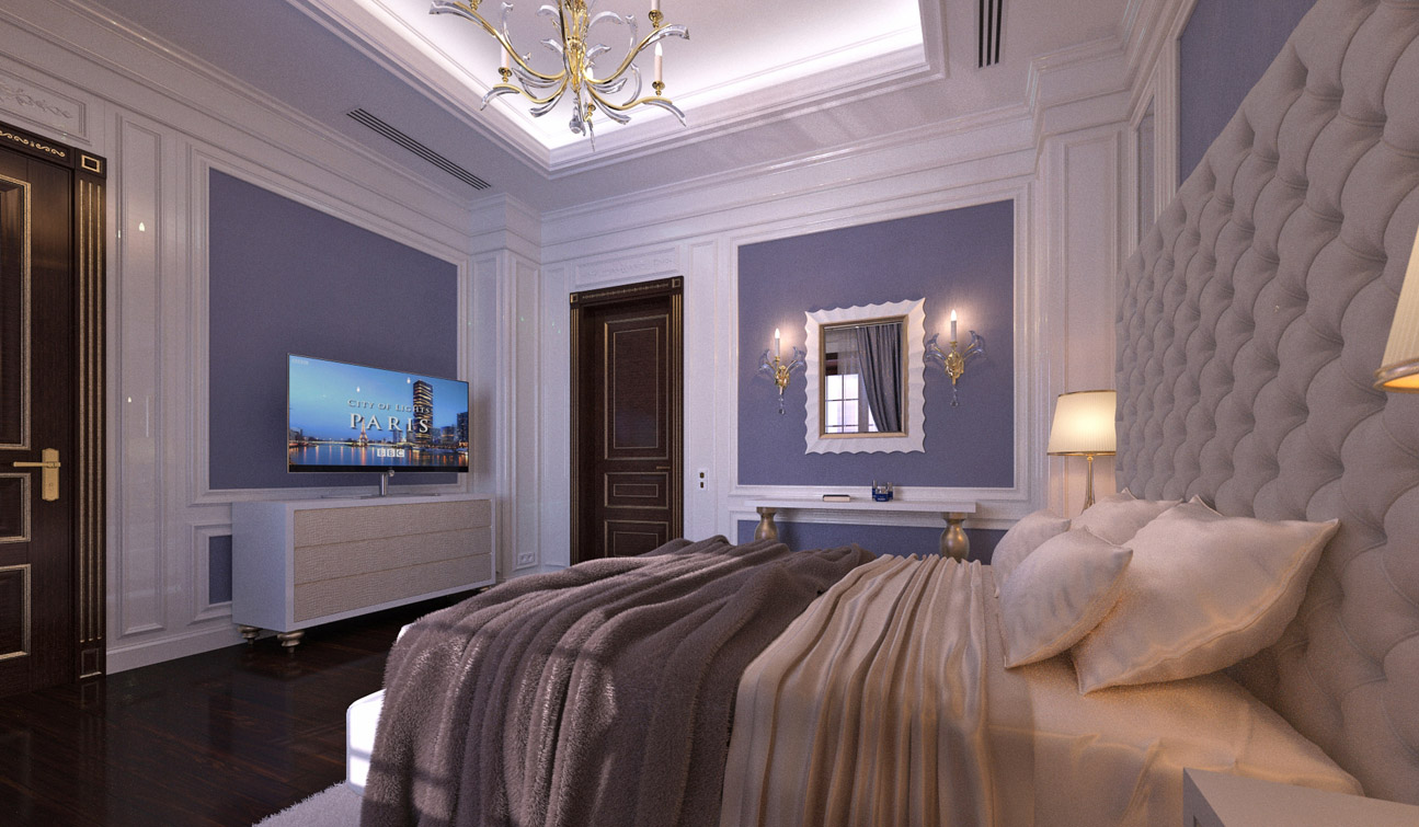 Stylish and Luxury Guest Bedroom interior in Art Deco style 03