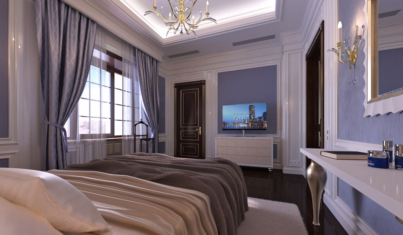 Stylish and Luxury Guest Bedroom interior in Art Deco style 04