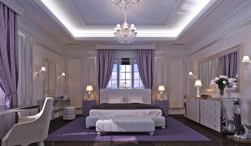 Bedroom Interior Design in Elegant Neoclassical Style